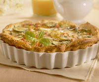 Herbed Ham and Vegetable Quiche
