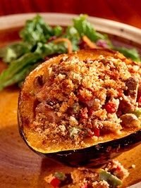 Turkey-Stuffed Squash
