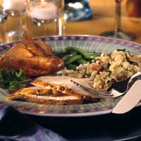 Pacific Northwest Herb Chicken with Roasted Pear Couscous
