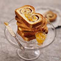 Double-Swirl Apple Bread