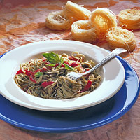 Image of Roasted Pepper Pasta With Basil Pesto, Better Homes and Garden