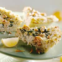 Salmon-Walnut Rice Pie