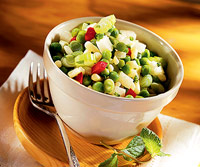White Corn and Baby Pea Salad
