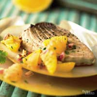 Seared Tuna with Grapefruit-Orange Relish