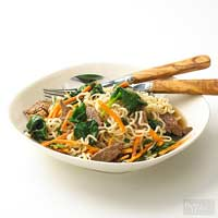 Image of Asian Beef And Noodle Bowl, Better Homes and Garden