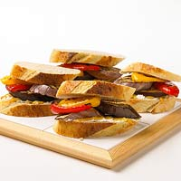 Grilled Eggplant and Sweet Pepper Sandwiches