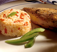 Pepper-Rice Timbales