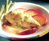 Poached Chicken Breasts with Apples