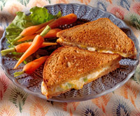 Grilled Three-Cheese Sandwiches