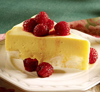 Lemon Torte with Raspberries