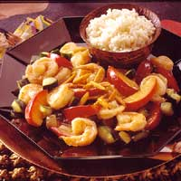 Image of Almond Shrimp With Plums, Better Homes and Garden