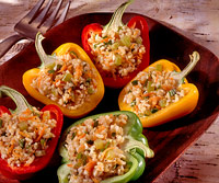 Pilaf in Peppers