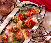 Salmon and Scallop Kabobs