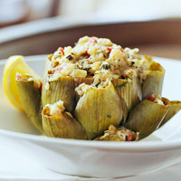 Image of Artichokes Stuffed With Feta Cheese, Better Homes and Garden