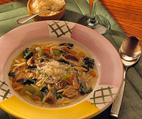 Lamb and Orzo Soup with Spinach