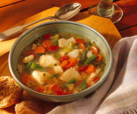 Chunky Vegetable-Cod Soup