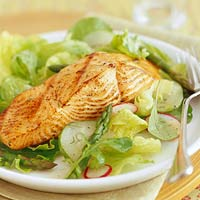 Asian Grilled Salmon Salad