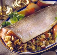 Fruited Couscous-Stuffed Salmon Roast