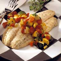 Grouper with Summer Vegetables