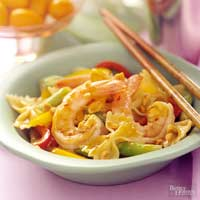 Pepper Shrimp in Peanut Sauce