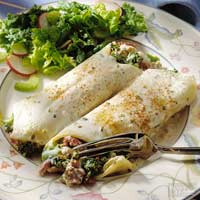 Chicken Manicotti with Chive Cream Sauce