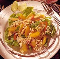 Oriental Chicken Salad with Soy-Ginger Dressing