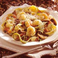 Fettuccine with Herbed Shrimp