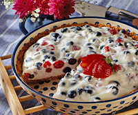 Berry and Sour Cream Pie
