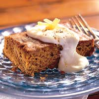 Gingerbread with Lemon-Butter Sauce