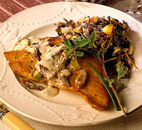 Turkey with Creamy Morel Sauce