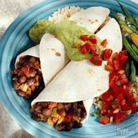 Black Bean and Chayote Burritos