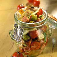 Marinated Vegetables, Cheese, and Sausage