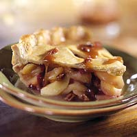 Mile-High Cranberry Apple Pie