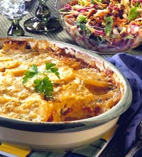 Scalloped Potato and Roasted Pepper Bake