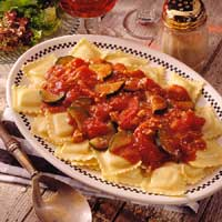 Ravioli with Red Clam Sauce