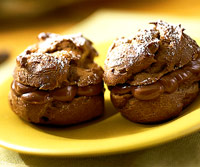 Nutty Chocolate Puffs