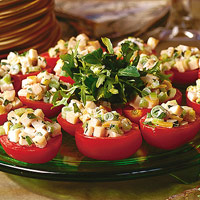 Lemony Chicken Salad in Tomato Shells