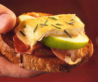 Image of Apple, Brie, And Prosciutto Bruschetta, Better Homes and Garden