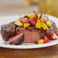 Beef Steaks with Pepper-Onion Relish
