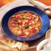 Quick-To-Fix Turkey and Rice Soup