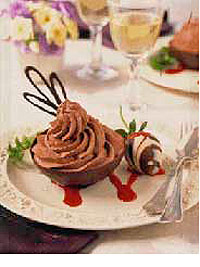 Chocolate Cups with Rich Chocolate Mousse