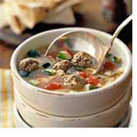 Zesty Meatball Noodle Soup