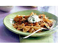 Pasta with Tomato-Vegetable Sauce and Ricotta