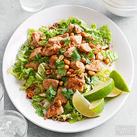 Cilantro Chicken with Peanuts