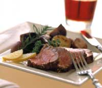 Roasted Tenderloin with Tricolor Potatoes