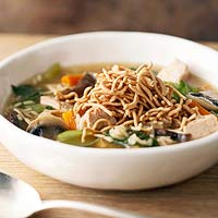 Asian Turkey and Rice Soup