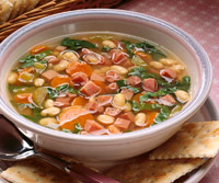 Vegetable Bean with Ham Soup