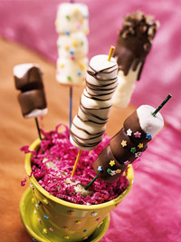 Double-Dipped Marshmallow Sticks