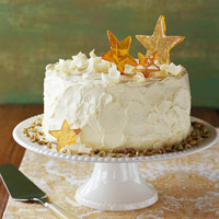 Pistachio Cake with White Chocolate Buttercream