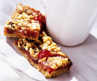 Double-Cherry Streusel Bars
